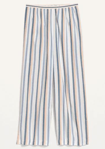 Multi-color stripe pajama pants
