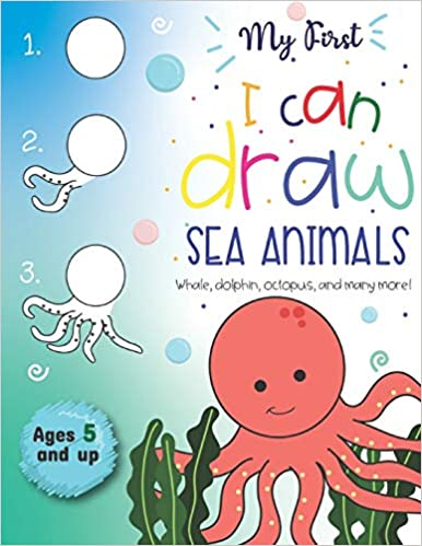Book cover for My First I Can Draw Sea Animals as an example of drawing books for kids