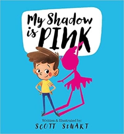 Book cover for My Shadow is Pink as an example of children's books that teach social skills