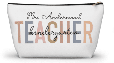 Name and grade personalized pencil case from Etsy