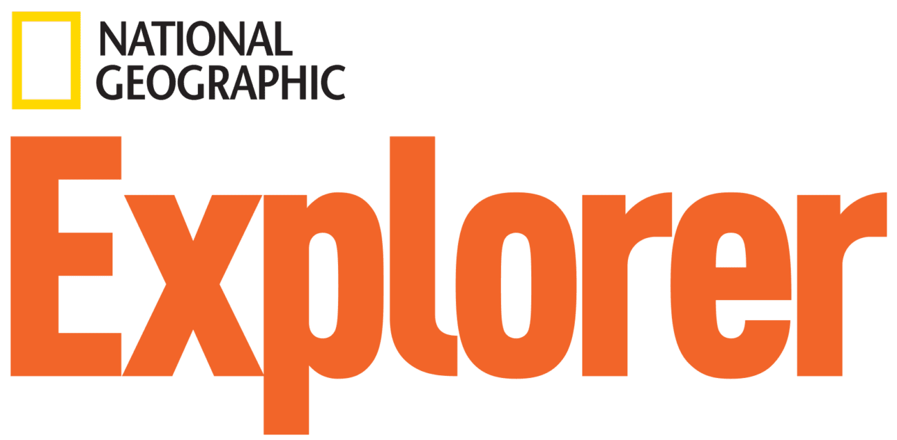 National Geographic Explorer logo orange - text features worksheets