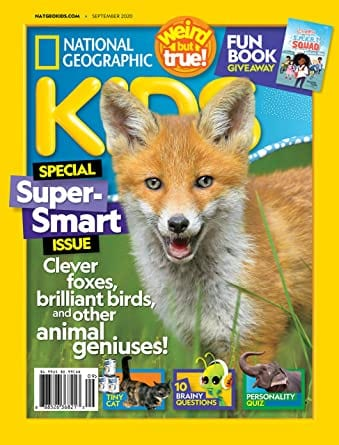 Sample issue for National Geographic Kids magazine as an example of best magazines for kids