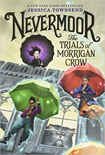 Book cover for Nevermoor Book 1 as an example of fantasy books for kids
