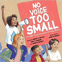 Book cover for No Voice Too Small: Fourteen Young Americans Making History