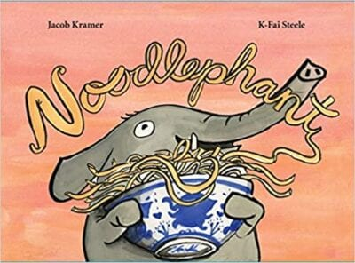 Book cover for Noodlephant as an example of social justice books for kids