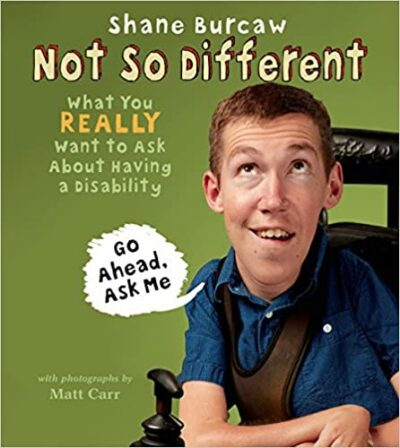 Book cover for Not So Different as an example of children's books about disabilities