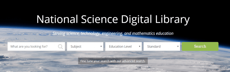 National Science Digital Library search engine.