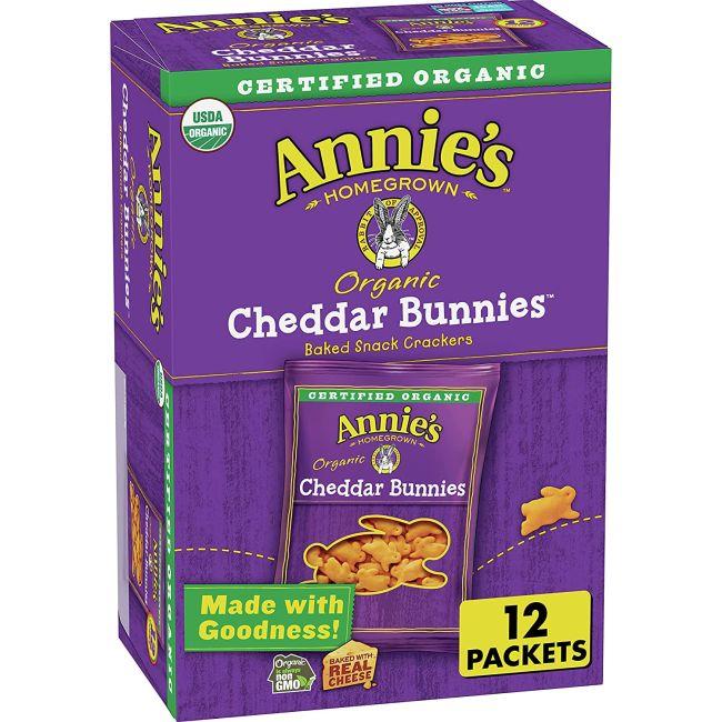 Annie's Cheddar Bunnies box