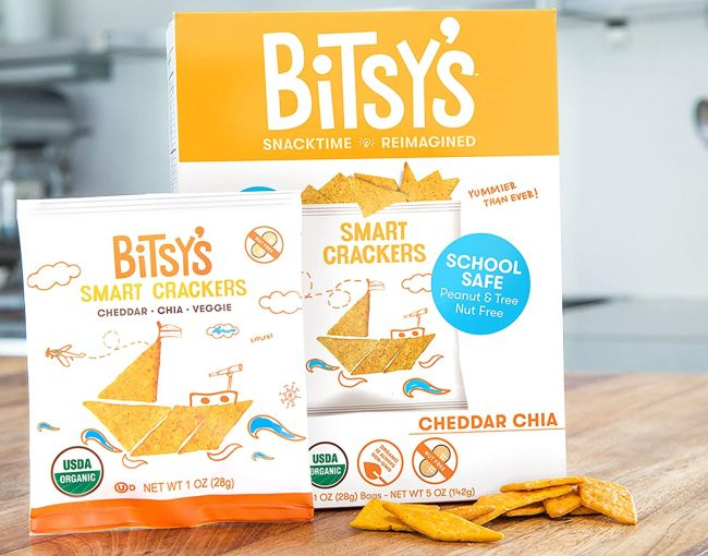 Bitsy's Smart Crackers, cheddar-flavored