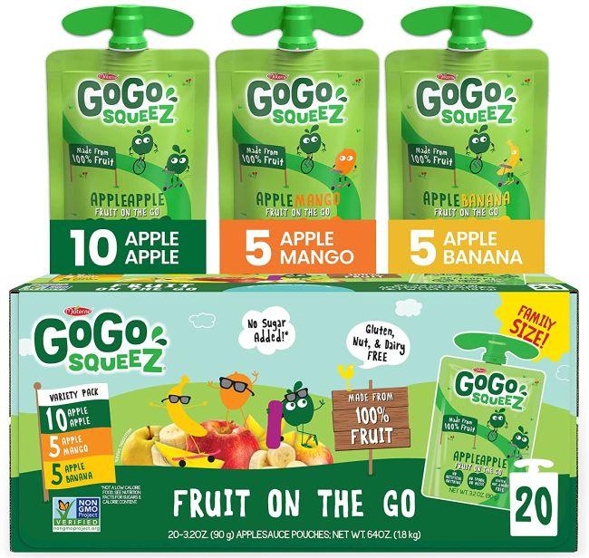 Nut-Free Snacks: GoGo SqueeZ Applesauce