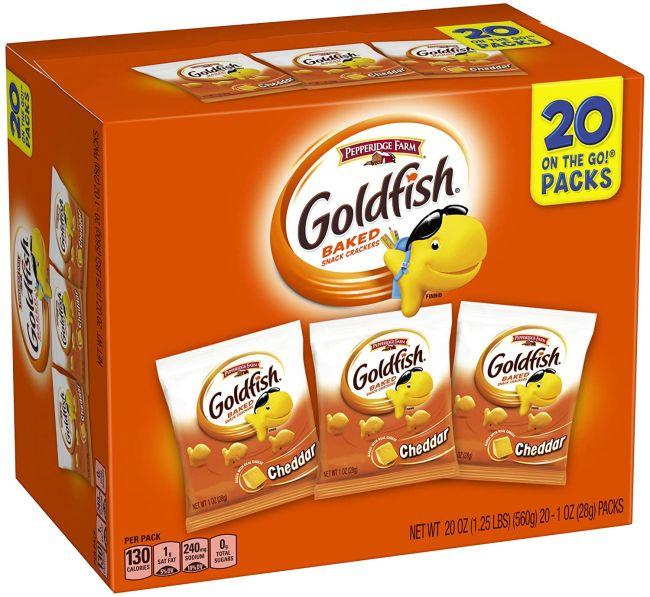 Cheddar Goldfish Crackers box