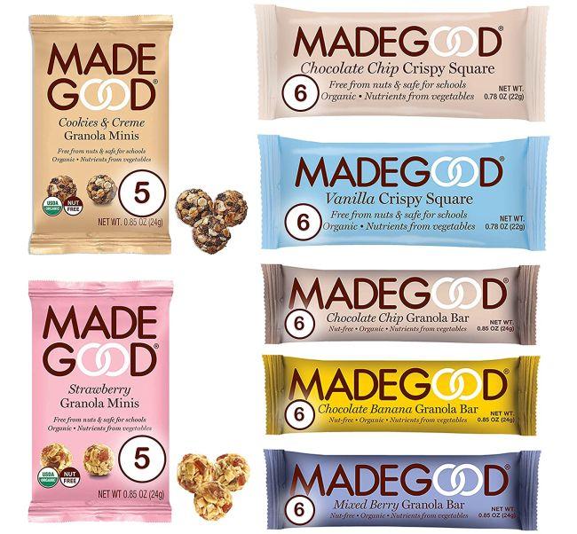 Nut Free Snack: MadeGood Granola Snacks Variety Pack