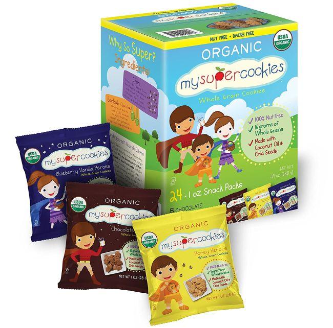 Nut-Free Snacks: MySuperCookies variety box