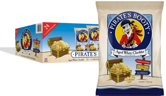 Nut-Free Snacks: Pirate's Booty cheddar cheese puffs