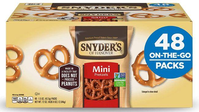 Nut-Free Snacks: Snyder's of Hanover Pretzels
