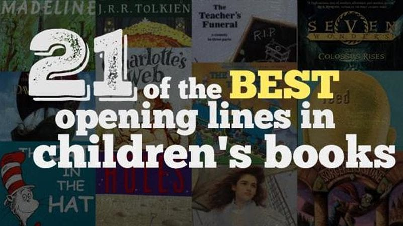 21 Of The Best Opening Lines In Children S Books Weareteachers