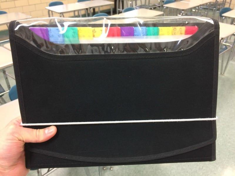 black Expandable Folder