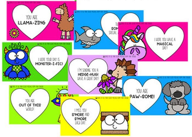 Selection of cartoon animals with motivational messages - Seesaw Activities