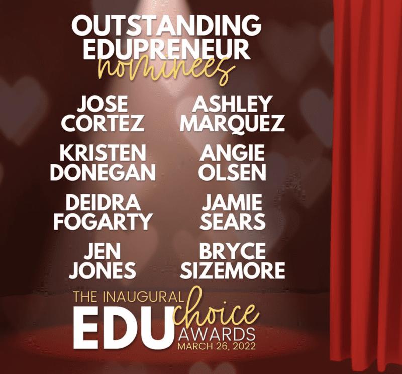 Outstanding Edupreneur nominees