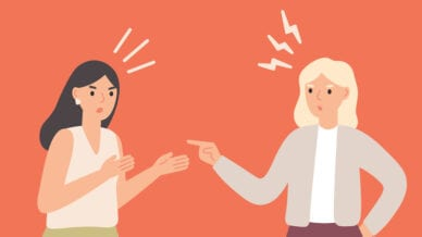 Illustration of two people arguing