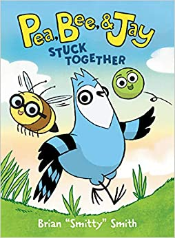 Book cover for Pea, Bee and Jay Stick Together as an example of graphic novels for kids