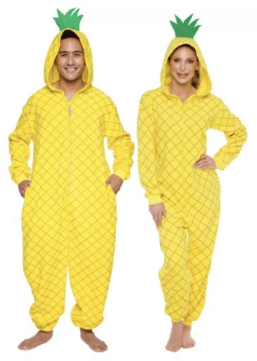 unisex pineapple adult onesie