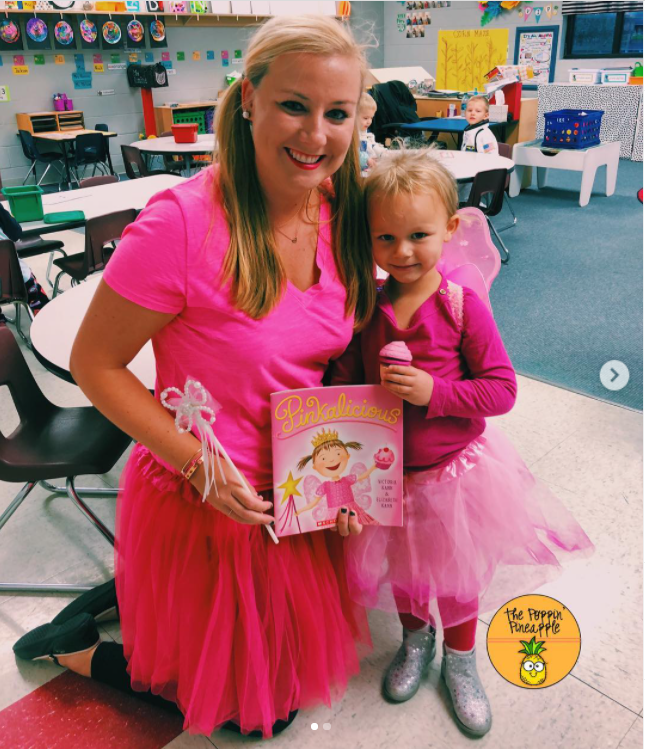 Pinkalicious öğretmen kostümü