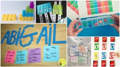 Collage of Place Value Activities