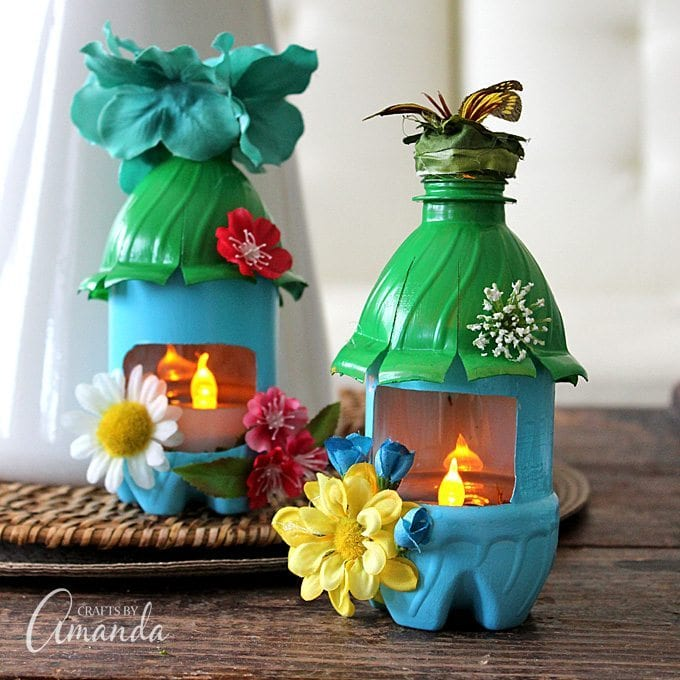 plastic bottle fairy houses