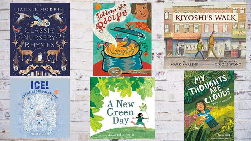 Collage of poetry books for kids