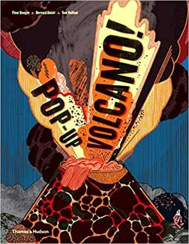 Book cover for Pop-Up Volcano as an example of pop-up books for kids