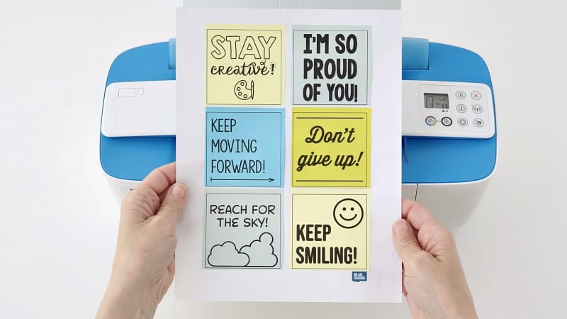 Free Templates for Positive Encouragement Post-its