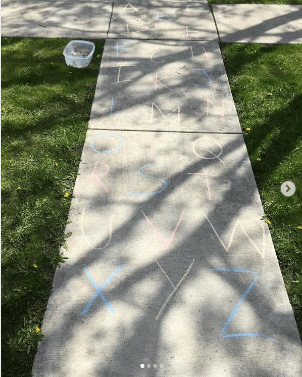 Outdoor ABC alphabet activities for kids
