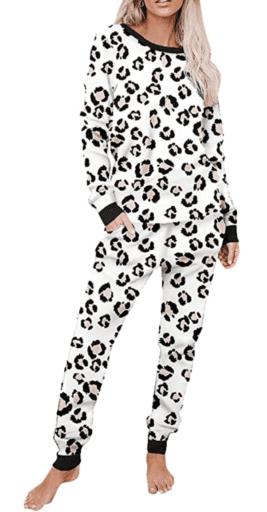 Printed cheetah pajama set
