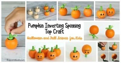 first paint then play with these adorable little pumpkin spinning tops that breakdance while teaching a lesson in physics