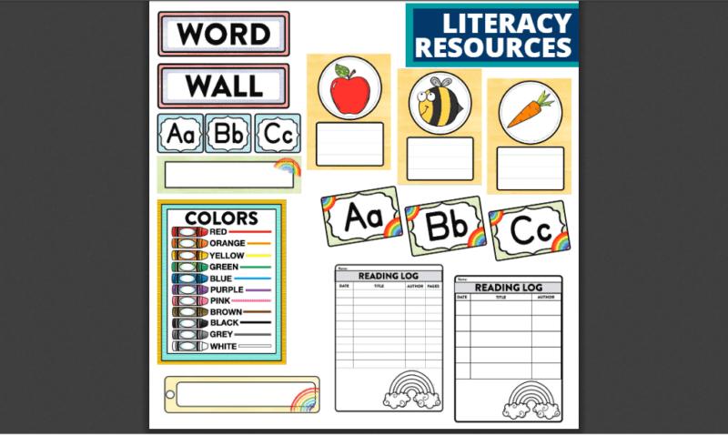 Rainbow bundle of bulletin boards