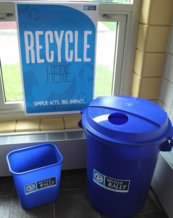 Bins and posters help school campus and sustainability efforts