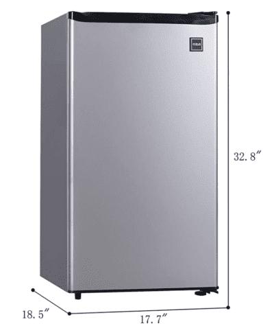 RCA single door stainless steel mini fridge