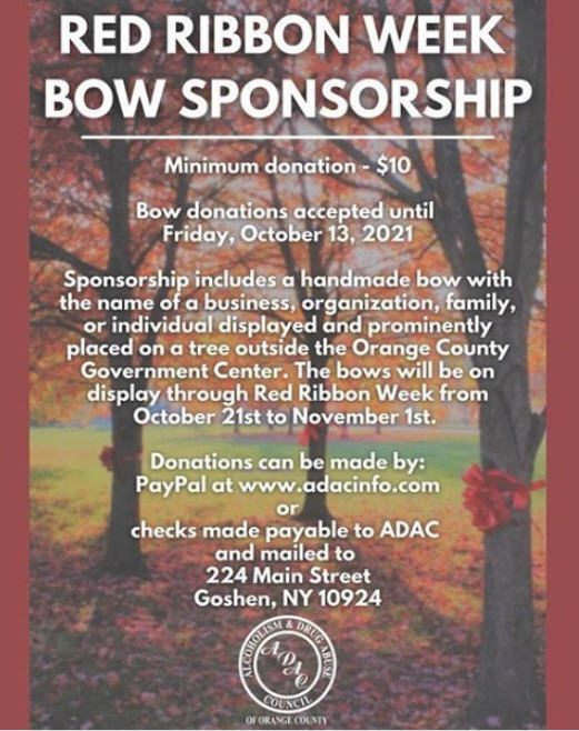 Red Ribbon Week Bow Sponsorship flyer