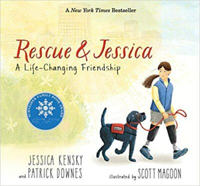 Book cover for Rescue and Jessica: A Life-Changing Friendship as an example of children's books about disabilities