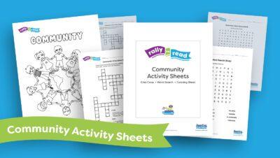 RIF Rally to Read activity sheets display