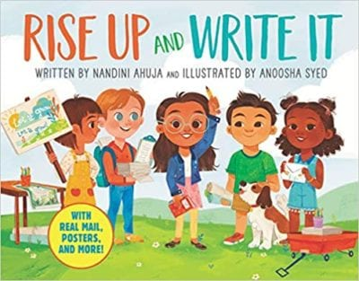 Rise Up and Write It book cover example of activism books for the classroom