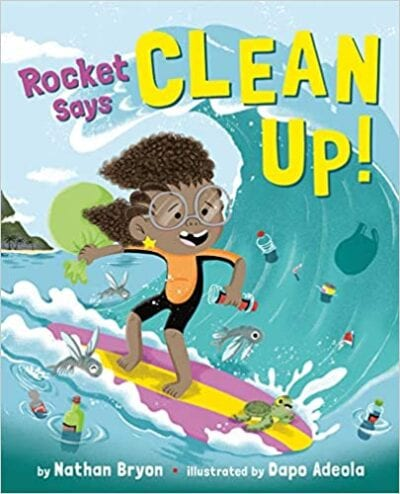 Book cover for Rocket Says Clean Up