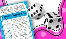 Roll and chat -- 2nd grade reading comprehension activities