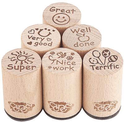 Round teacher stamp set