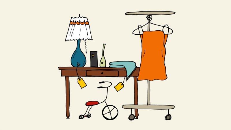 Illustrated rummage sale