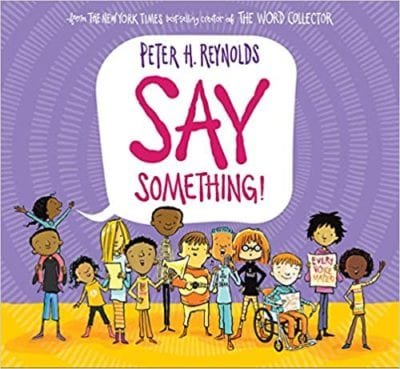 Say Something! book cover example of activism books for the classroom