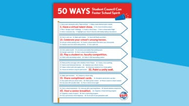 50 ways to foster school spirit