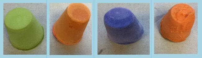 Colorful soaps from saponification science experiments for high school
