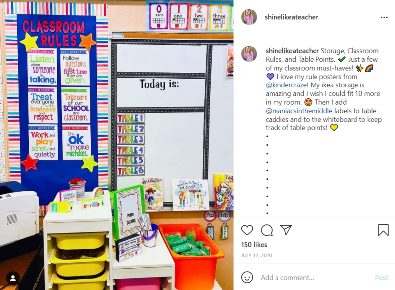 Colorful second grade classroom bulletin board with the teacher's rules